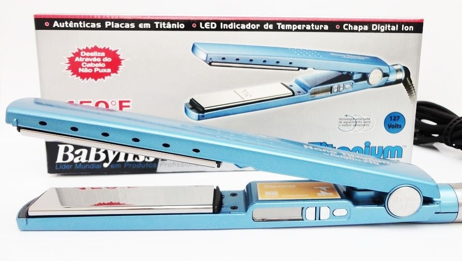 02bba1371 ... Prancha Babyliss Pro Nano Titanium Original By Roger - 110v ...
