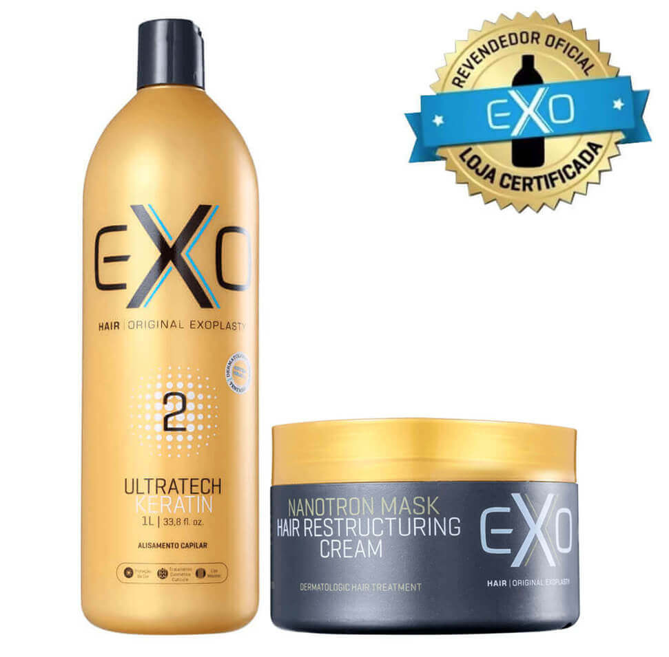 24eac5891 Exo Hair Exoplastia Progressiva Passo 2 - 1 Litro + Nanotron Mask 250g ...