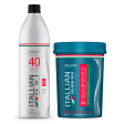Kit Itallian Pó Descolorante  500g + OXi 40 1 Litro