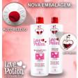 Love Potion Kit Escova Progressiva 2x1 Litro + Gelatina Hidratante 1kg
