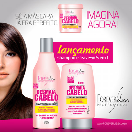 Forever Liss Desmaia Cabelo Leave-In 5 em 1 - 150g