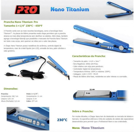 Prancha Babyliss Pro Nano Titanium Original By Roger - 110v