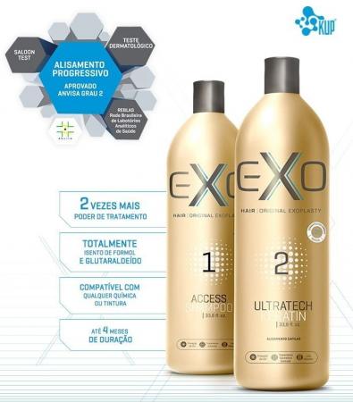 Exo Hair Kit Exoplastia Progressiva Alisamento S/F + Nanotron Mask
