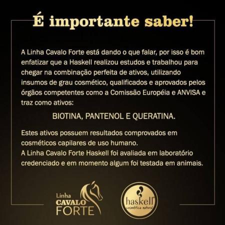 Haskell Cavalo Forte Kit Crescimento Saudável + Brinde Máscara 50g