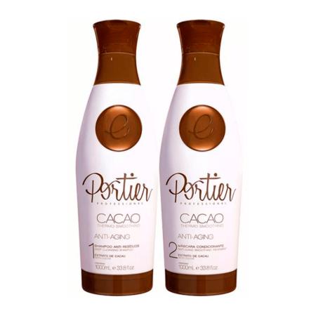 Escova Progressiva Portier Cacao Fine - Kit 2x1L (Nova Embalagem)