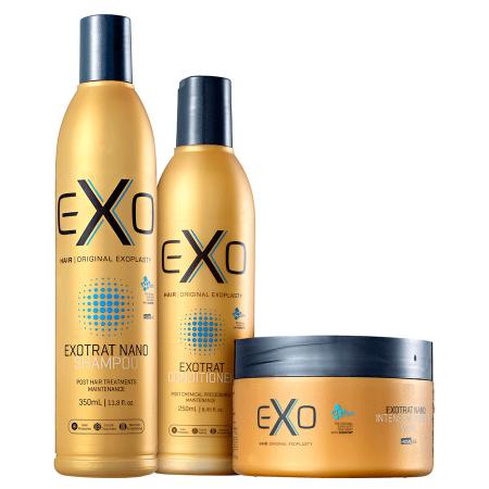 Exo Hair Kit Exotrat Home Care Manutenção Pós Progressiva - 3pc