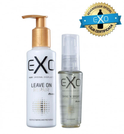 Exo Hair Kit Leave-in On Repair 140ml + Shine NBright Óleo de Brilho