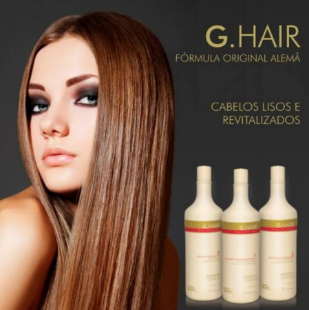 Ghair Kit Escova Progressiva Alemã Inteligente Inoar - 3 x 1 Litro