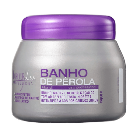 Forever Liss Banho de Perola Mascara Loiro Brilhante - 250gr