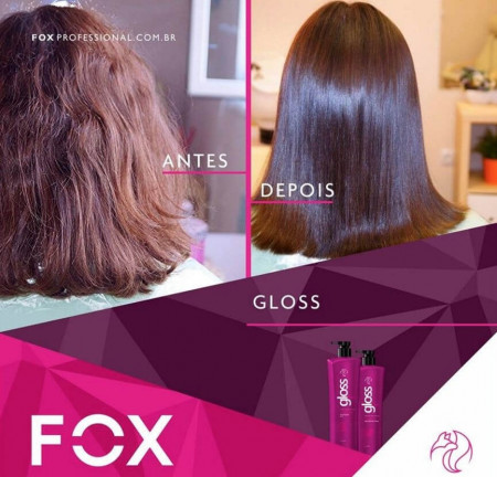 Escova Progressiva Fox Gloss Kit 2 x 1 Litro - 100% Original