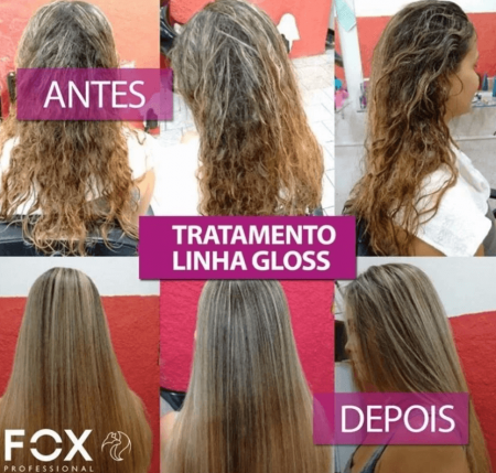Escova Progressiva Inteligente Fox Gloss Kit 2x1L - Original