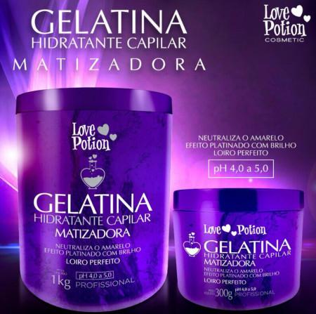 Love Potion Gelatina Matizadora Hidratação Capilar 300g