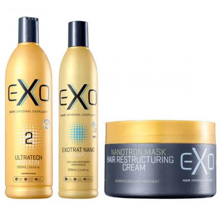 Exo Hair Explastia Passo 2 Ultratech 500ml + Kit Exotrat Pós Quimica
