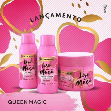 Madamelis Queen Magic Kit Liso com Maça (3 produtos)