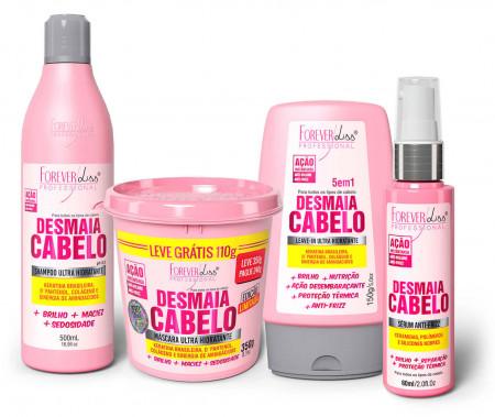 Kit Desmaia Cabelo Forever Liss Completo - 4 produtos