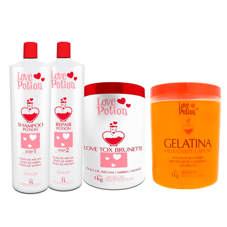Love Potion Escova Progressiva + Bt.ox + Gelatina Hidratante 1Kg