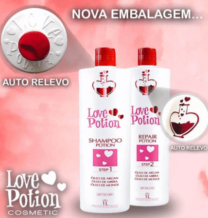 Love Potion Kit Escova Progressiva 2x1 Litro + Bt.ox LoveTox Brunette