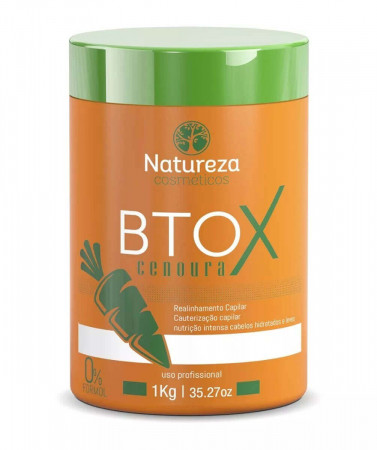 Bt.ox de Cenoura Sem Formol 1Kg Natureza Cosméticos