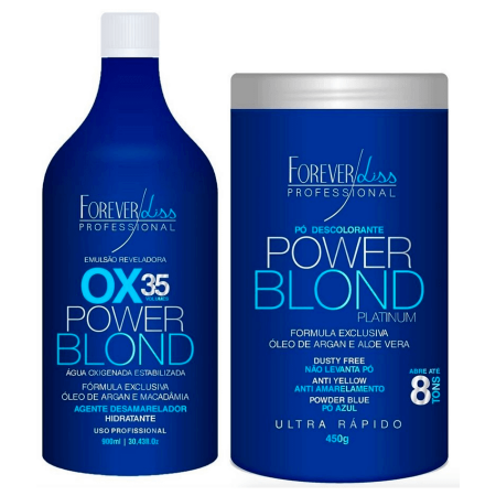 Power Blond Ox35 + Pó Descolorante - Forever Liss