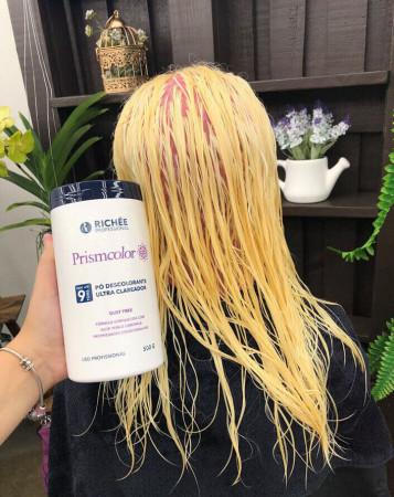 Richée Prismcolor Kit Pó Descolorante + Emulsão Reveladora 30vol
