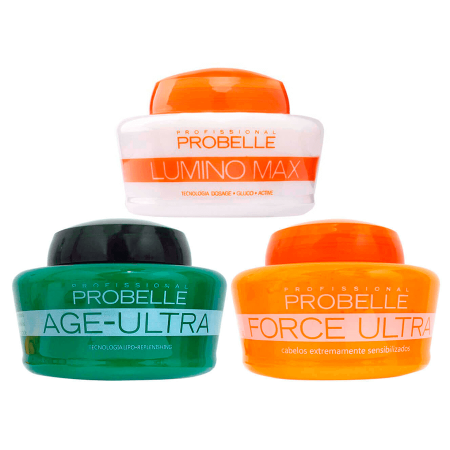 Probelle Cronograma Capilar Kit 3 Mascaras X 250G