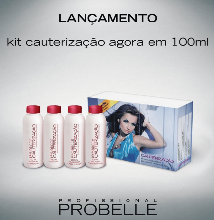 Probelle Kit Cauterização Profissional Power Repair - 4 x 100ml