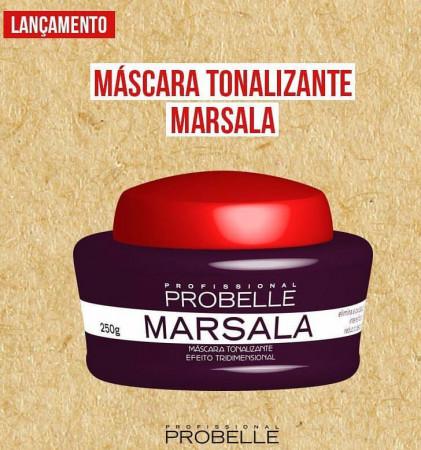 Probelle Mascara Matizadora Tonalizante Marsala 250g