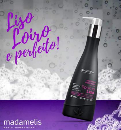 Madamelis Shampoo Matizador Alisante Spuma Lisa 300ml