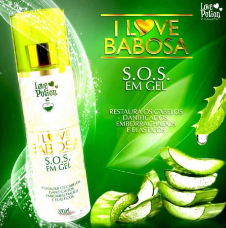 I Love Babosa SOS em Gel Love Potion Reconstrutor 200ml