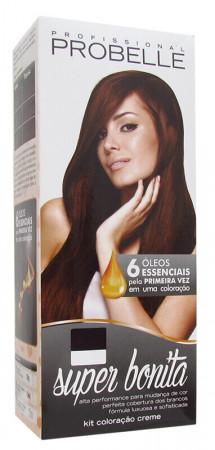 Probelle Coloração 5.0 Castanho Claro Super Bonita 50g (Grátis OX 20v)