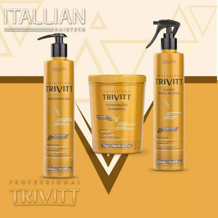 Trivitt Kit Máscara 1kg + 2 Fluidos Escova Itallian 300ml