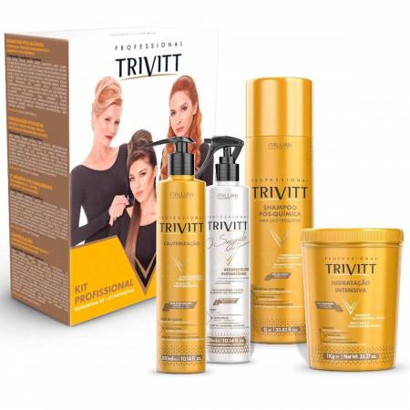 Itallian Trivitt Kit Profissional 2018 Hidratação 4 Produtos