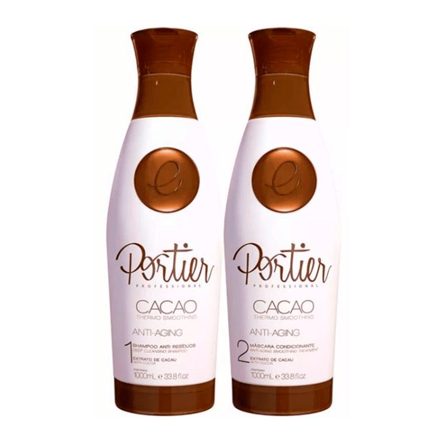 92d1113e2 Comprar Escova Progressiva Portier Cacao Fine - Kit 2x1L (Nova Embalag