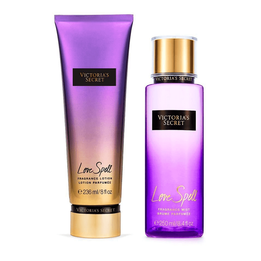 Victorias Secret Kit Hidratante + Splash Love Spell (nova embalagem)